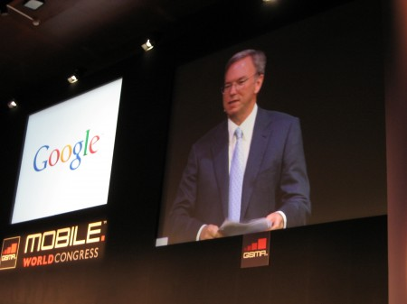 Mobile World Congress - Keynote by Eric Schmidt